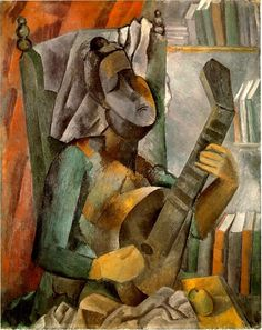 Pablo Picasso - 1909 - femme à la mandoline (Hermitage, St Petersburg)