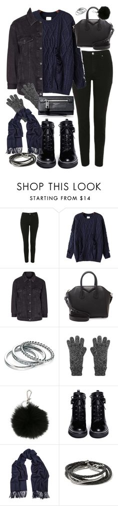 """""""outfit for winter with a navy jumper"""" by ferned ❤ liked on Polyvore featuring Topshop, Chicnova Fashion, Givenchy, Fiorelli, MICHAEL Michael Kors, Acne Studios, Banana Republic and Marc Jacobs"""