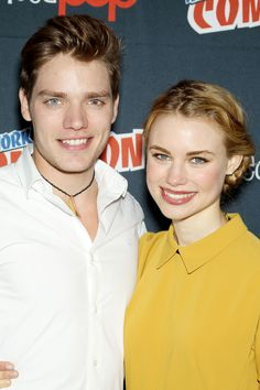 Dominic Sherwood and Lucy Fry