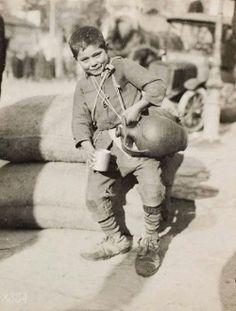 Water seller, Greece, 1918, by Lewis Hine