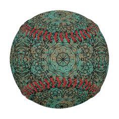 Vintage copper patina kaleidoscope pattern.