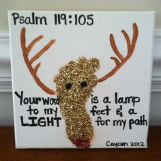 christmas bible verses   Christmas footprint with bible verse   Christmas