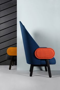 Moon is a minimal chair created by Paris-based designer Charles Kalpakian. Dining Room Chairs Ikea, Accent Chairs For Living Room, Desk Chairs, Cafe Chairs, House Furniture Design, Cool Furniture, Hallway Furniture, Minimal House Design, Adirondack Chair Cushions