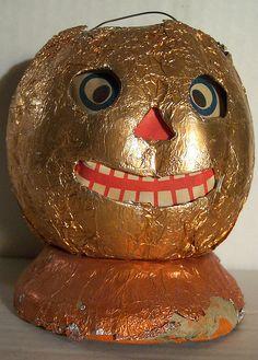 Vintage Halloween Jack-O-Lantern (German)