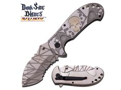 Swords of Might - Dark Side Blades Glow Skull Spring Assisted Knife Silver Stonewashed, $8.99 (http://www.swordsofmight.com/dark-side-blades-glow-skull-spring-assisted-knife-silver-stonewashed/)