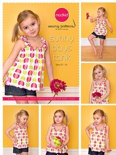 Sunny Days Tank  A free pattern and video tutorial for Baby Lock   Yes, I know! With temps being in the arctic range in most of the country ...