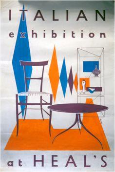 Heal's Poster - Italian Exhibition http://decdesignecasa.blogspot.it