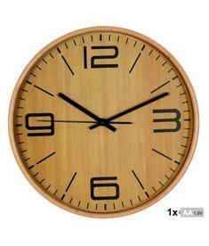 Reloj de pared madera color haya de 32 cm