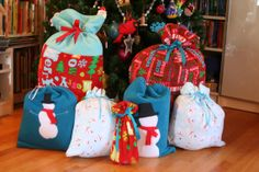 Neat idea. Instead of buying wrapping paper why don't you use up some of those scraps to make fabric gift bags. After the holidays use them for storage.