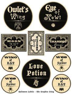 Free Printable Halloween Labels! #Halloween #Printables
