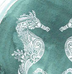 Mehndi style seahorses. Gorgeous!