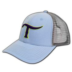 2156892dfeb45 Teskey s light blue mesh ball cap with snap back and purple T logo is the  perfect accessory to add to your collection! Teskey s Boutique