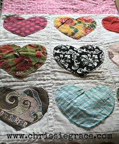 memory quilt with children's clothes