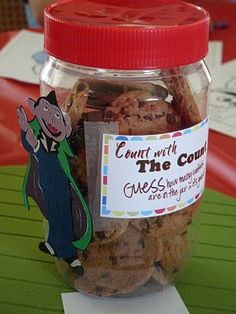 """""""Count with the Count - Guess how many cookies are in the jar and it's yours!"""""""