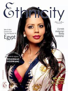 Model& Actress BHAIRAVI GOSWAMI on Ethnicity (magazine) July 2014 issue. .. :)