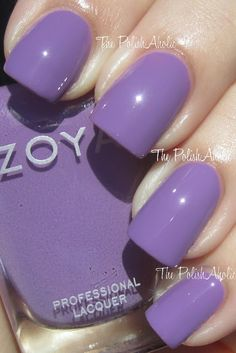 "Zoya Malia.  ""Light, dusty violet cream leaning to medium orchid. Not a ""grape"" as the picture. The darkest of this color that I have bought but very pretty.  (2 COATS! PERFECT!)"""