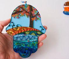Hanukkah gift. home blessing hamza by Paperila on Etsy