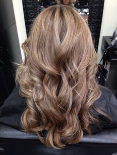 Dark blonde with lowlights! So pretty!