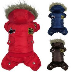 Cheap dog clothes winter warm, Buy Quality dog winter warm clothes directly from China dog winter jumpsuit Suppliers: Winter Warm Small Dog Pet Clothes Padded Hoodie Jumpsuit Pants Apparel XS S M L XL Pet Puppy, Pet Dogs, Puppy Coats, Dog Winter Coat, Dog Fleece, Dog Jacket, Hoodie Jacket, Dog Hoodie, Sweatpants Outfit