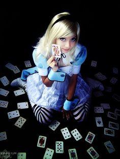 I love Alice!    cosplayblog:    Alice from Alice's Adventures in Wonderland    Cosplayer:  Karen Kasumi