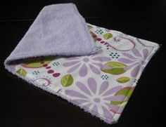 Homemade burp clothes - I am still using these for wiping little noses because they are so soft!