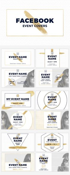 12 Facebook Event Covers as Photoshop templates with the perfect size to be used as the main image of your event, but also it can be used on other social media sites or on your website to promote your event on your blog post, and also as a banner to advertise it.