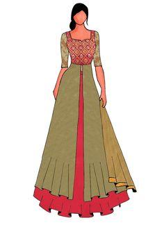 Dress Design Sketches, Fashion Design Drawings, Fashion Sketches, Dress Illustration, Fashion Illustration Dresses, Fashion Drawing Dresses, Dress Drawing, Fashion Figures, Fashion Images