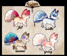 Seasonal Foxfan Auction// CLOSED by Belliko-art