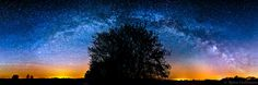 Star Arch Remastered - I completely re-worked my latest Milky Way Panorama to create a printable version of it. This is now hanging on my wall in a size of 150 cm x 50 cm!   5 upright photos combined to a large panorama.