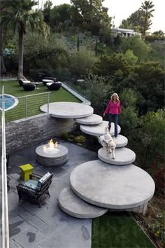 Cool idea for backyard steps-floating steps!
