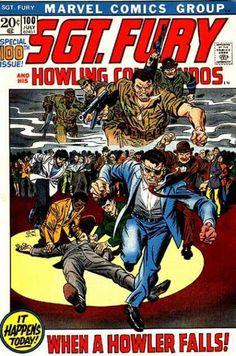 Sgt. Fury #100 where he becomes COL Fury of SHIELD 1972