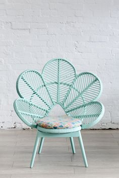 The things I would do for this chair. So gorgeous Love Chair Mint - The Family Love Tree. aqua teal turquoise mint chair furniture home decor design Peacock Chair, Love Chair, Home And Deco, Decoration, My Dream Home, Interior Inspiration, Furniture Inspiration, House Styles, Cane Furniture