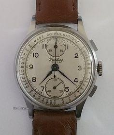 Breitling aanbod: 897 € Breitling Mervos Chronograph, Venus 170, Staal; Handopwind; Staat 1 (zeer goed); Jaar 1970's; Locatie: Ver. Staten, CA, Los Angeles