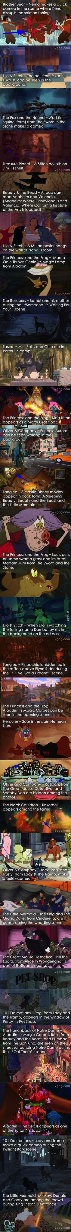 Hidden gems in Disney movies.