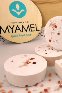 Cold process soaps - Bridal Favors and handmade beauty products made by Mary Yalama aka MYAMEL - Greek Royal Soap Natural Body Scrub, Made By Mary, Cupcake Soap, Personalized Favors, Cold Process Soap, Handmade Soaps, Shower Gifts, Christening, Beauty Products