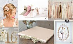 Blush and Gold Wedding Color Palette | Emmaline Bride Wedding Blog