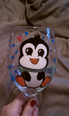 My penguin wine glass!