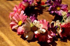 Pikczer For Ticzer pink summer  flower crown