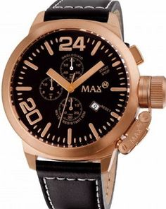 Scroll through our web shop and enjoy attractive priced watches like this MAX Dutch Design super size timepiece discounted from € for Popular Watches, Watches For Men, Men's Watches, Watch Faces, Brass Metal, Stainless Steel Case, Omega Watch, Chronograph, Classic