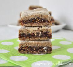 Homemade Fig Newtons- I used flax meal to make an egg. All you do is take 3 T warm water and 1 T flax meal. Whisk together and put it in the fridge for a minute or two. Works great as an egg substitute. I think you can do it with chia seeds as well.