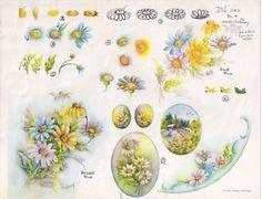 Gladys Galloway China Painting Study No 4 Dasies Pattern Instructions   eBay