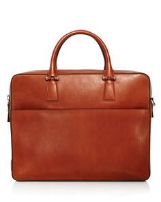 Cole Haan Lawford Leather Double Zip Briefcase
