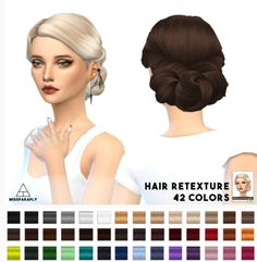 Miss Paraply: Twist Low hairstyle retextured - Sims 4 Hairs…