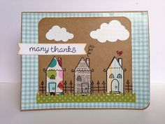 Cute paper pieced houses! Lawn Fawn - Home Sweet Home _ Many thanks | Flickr - Photo Sharing!