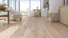 Barlinek Sense Oak Sense is an extra wide engineered plank floor with a white brushed natural oil finish. These boards have a really rustic textured surface and with its light pigmented stain, provides a bold look that will stand out amongst your interior.