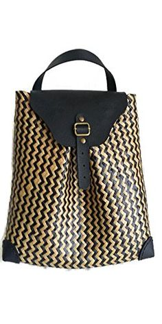 Amazon.com  LAKSREE Straw Sedge Twist Backpack Purse Woven Women Handmade Black  Natural Product 100%  Shoes a8f2b0947ae1e