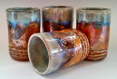 Set of 4 Handmade Drinking Tumblers by by NorthWindPottery on Etsy, $75.00