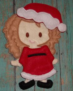 """Christmas Mrs Claus Holiday Dress Up Outfit from my """"Unpaper Felt Dolls Share"""" collection Listing for doll clothes outfit only fits girls by cabincraftycreations on Etsy"""