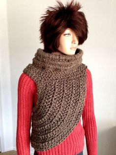 Katniss Inspired Hand Crocheted Cowl. Wool Crochet by Africancrab, $120.00