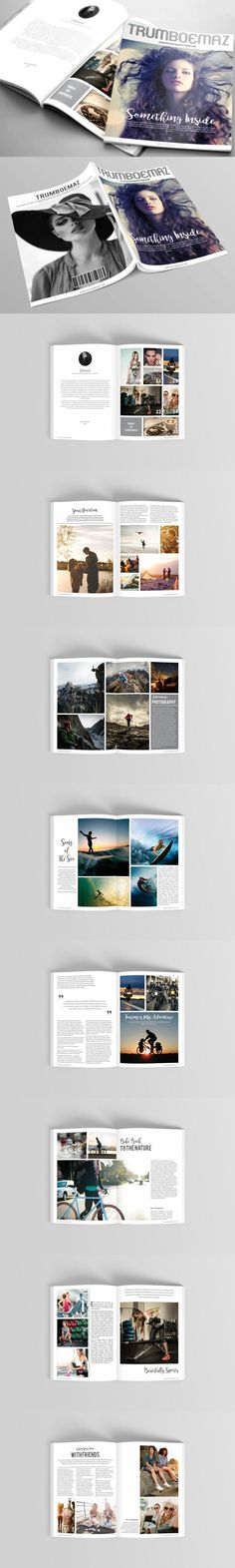 #magazine #design from BoriesBechker | DOWNLOAD: https://creativemarket.com/boriesbechker/593377-Magazine-Template?u=zsoltczigler